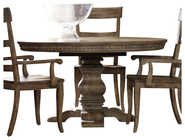 Sorella Round Oval Pedestal Dining Table With Leaf Farmhouse Dining Tables