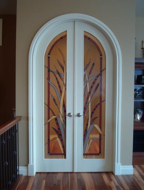 interior decorative glass doors eclectic interior doors calgary by danziger glass studio ltd