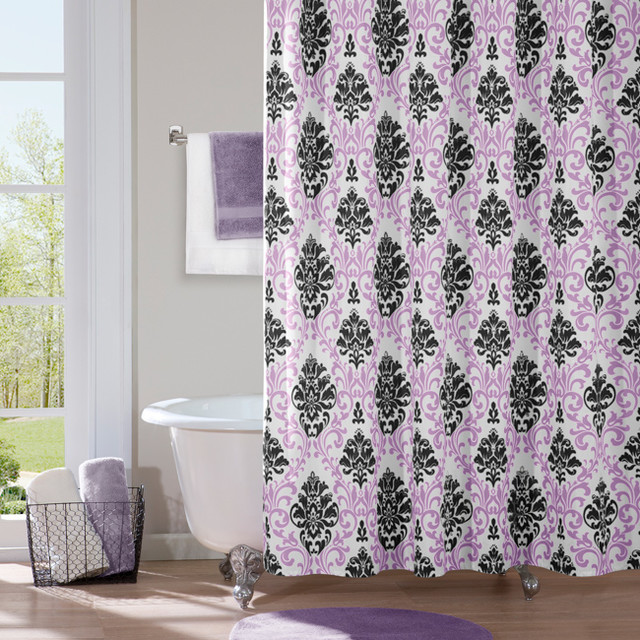 Megan Modern Shower Curtain Contemporary Shower Curtains By