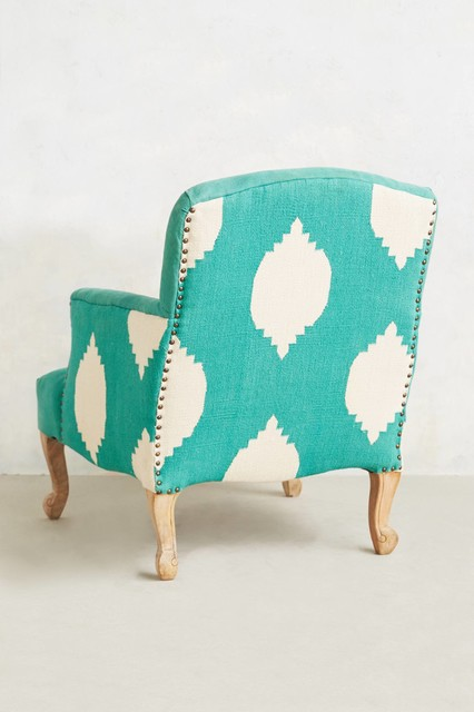 Dhurrie Chair Turquoise Contemporary Armchairs