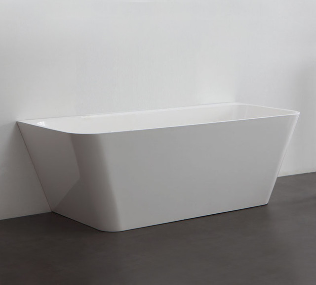 Vizzini Dee Back To Wall Free Standing Bath Modern Bathtubs Sydney By