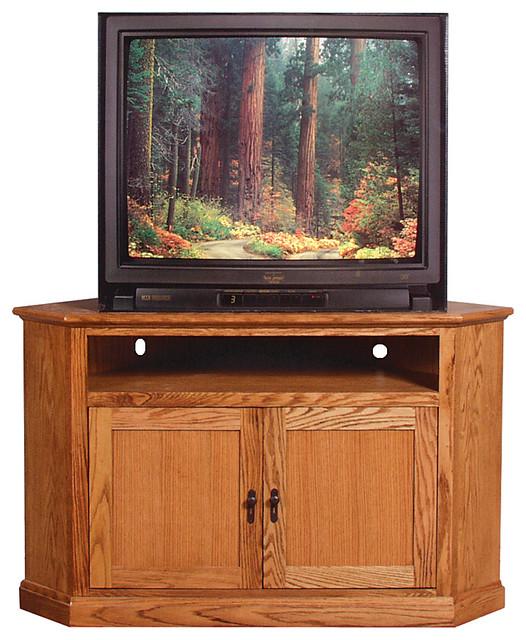mission large corner tv stand natural alder craftsman media cabinets. Black Bedroom Furniture Sets. Home Design Ideas