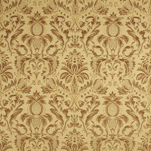 Sage Green Orange Gold Burgundy Pineapple Damask ...