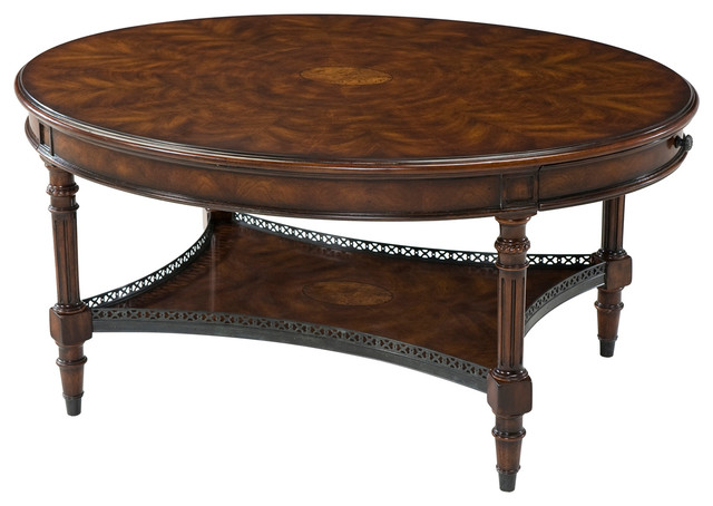 Theodore Alexander Essential Ta The Galleried Cocktail Table Victorian Coffee Tables By
