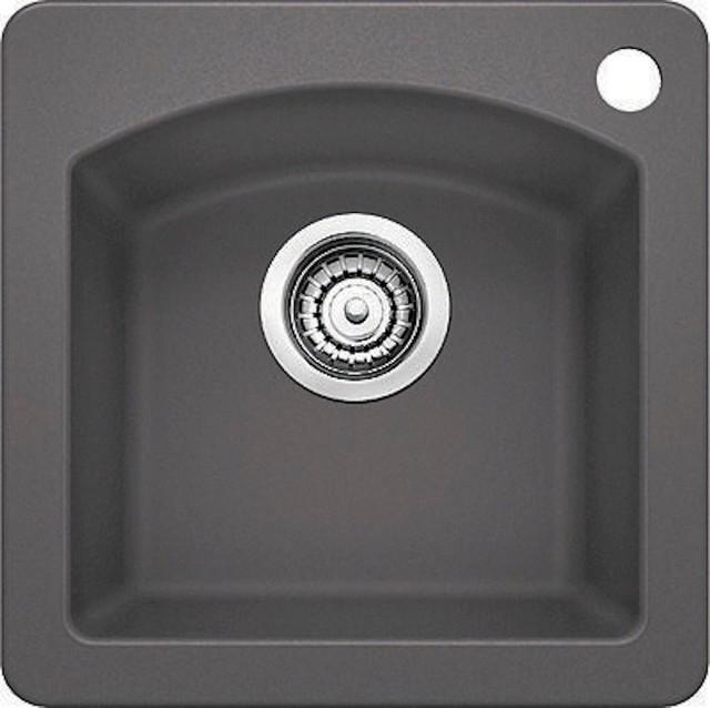 Cinder Blanco Sink : Blanco Drop-In Bar Sink Silgranit II, Cinder - Modern - Bar Sinks - by ...