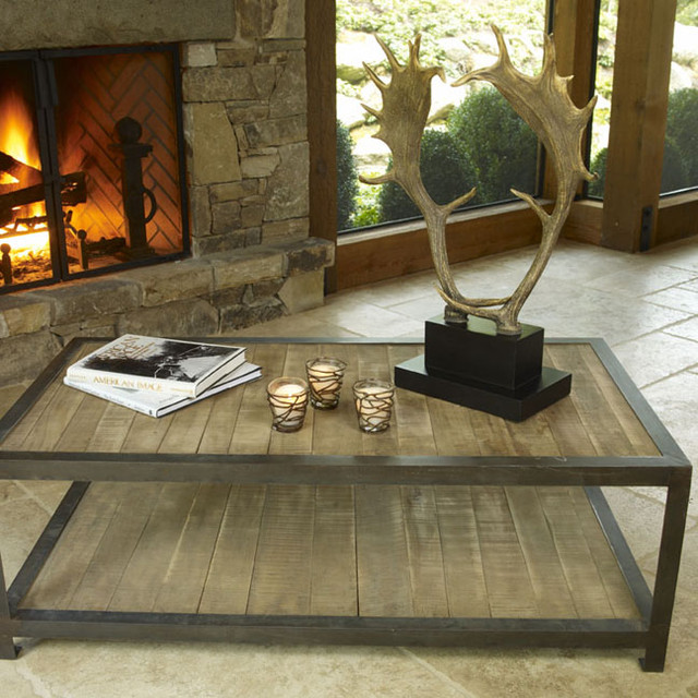 Aspen rustic wood coffee table eclectic coffee tables Eclectic coffee table makeovers