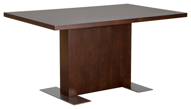 Rectangle Dining Table in Java Veneer With Stainless Steel  : modern dining tables from www.houzz.com size 640 x 368 jpeg 26kB