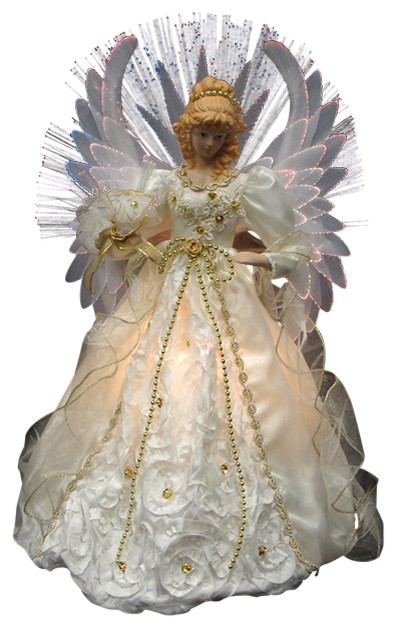 Lighted Christmas Angel Tree Topper - Christmas Lights Card and Decore