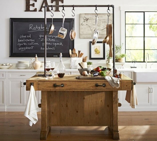 rustic industrial kitchen island with pipe rustic