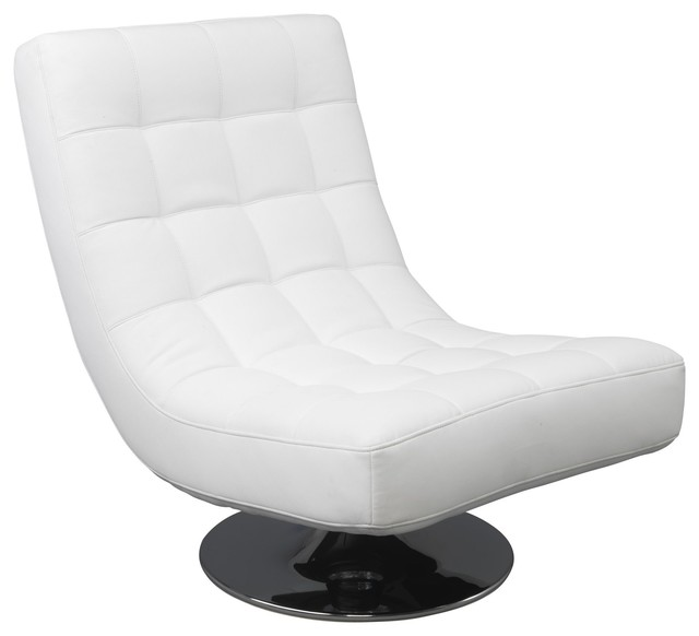 boss fauteuil pivotant effet cuir blanc contemporain. Black Bedroom Furniture Sets. Home Design Ideas