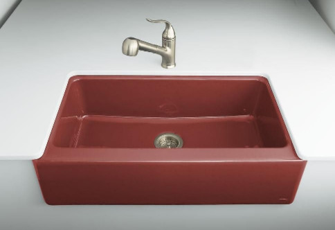 Apron Front Lavatory Sink : Dickinson Apron Front Kitchen Sink - Modern - Kitchen Sinks - by The ...