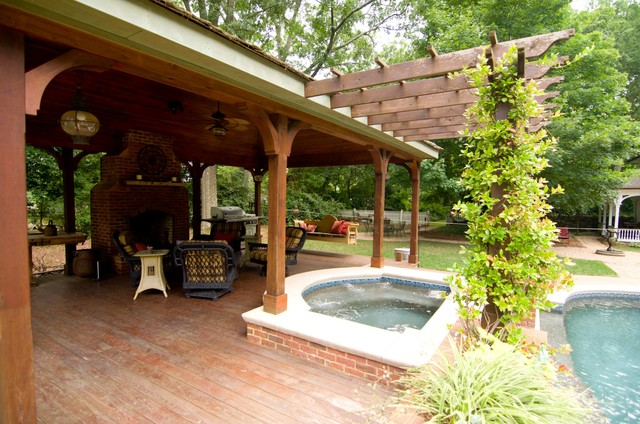 Cabana outdoor living space traditional patio for Tradition outdoor living
