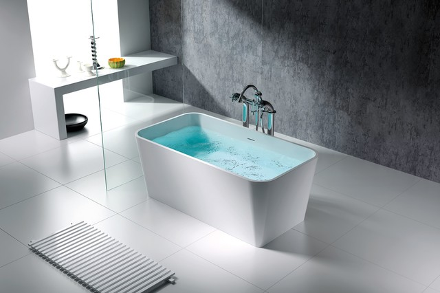 Bathtubs Dallas Rennes Solid Surface Modern Bathtub 59 Quot Modern