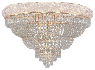 French Empire Crystal Plush Chandelier