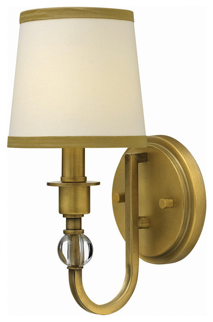 Hinkley Bathroom Wall Sconces : Hinkley Lighting Single Light Wall Sconce in Brushed Bronze - Traditional - Bathroom Vanity ...