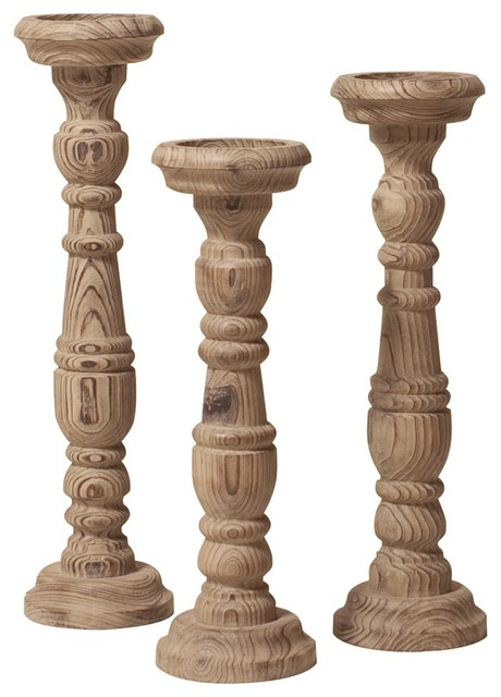 unfinished wooden pillar candle holders 2