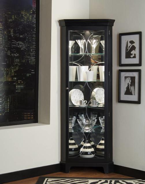 corner black curio cabinet 2