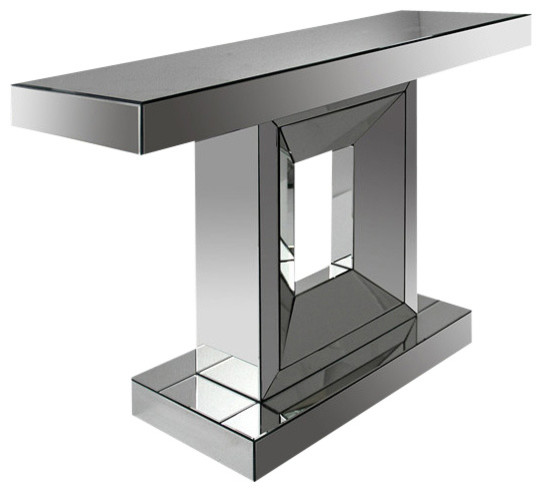 Milton modern mirrored console table contemporary console tables