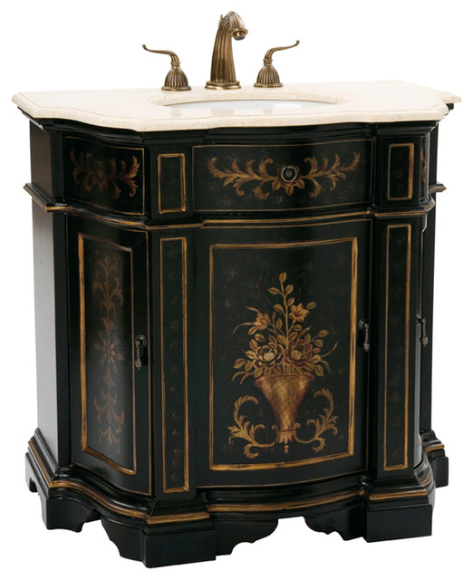 ... Black Single Bath Vanity victorian-bathroom-vanities-and-sink-consoles