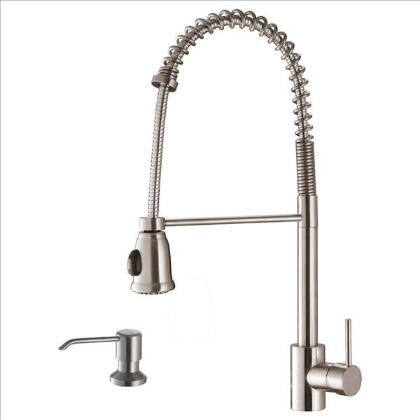 Ruvati RVF1215K1ST Pullout Faucet with Soap Dispenser - Traditional - Kitchen Faucets - by PoshHaus