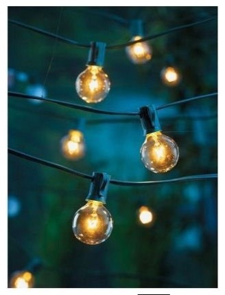 Clear Globe String Lights Set of 25 G40 Bulbs Indoor/ Outdoor - Contemporary - Holiday Lighting ...