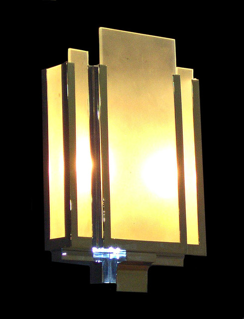 Modern window treatments for bedrooms - Art Deco Modern Lighting Claridge S Wall Light