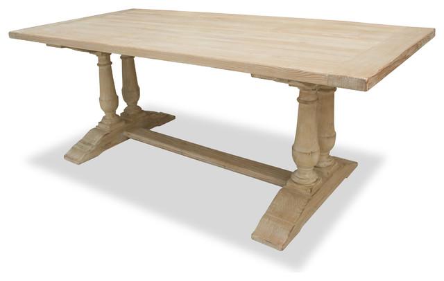 Ava Turned Leg Table White 84quot Length Farmhouse  : farmhouse dining tables from www.houzz.com size 640 x 406 jpeg 34kB