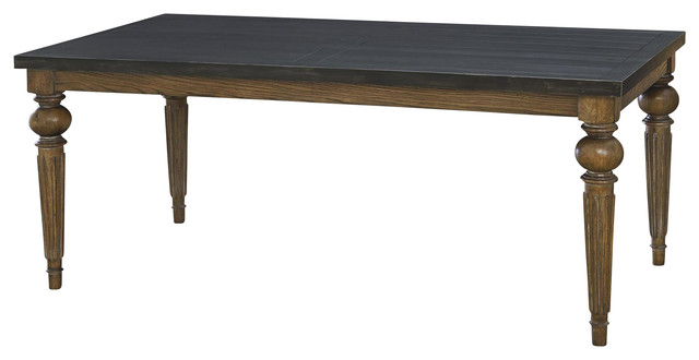 garde black metal top dining table traditional dining tables