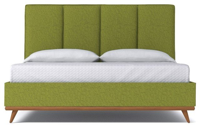 Carter Upholstered Bed From Kyle Schuneman Green Apple Midcentury