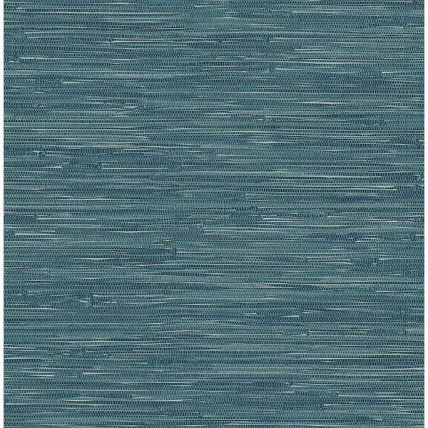 Faux Grasscloth Wallpaper: Natalie Teal Faux Grasscloth Wallpaper