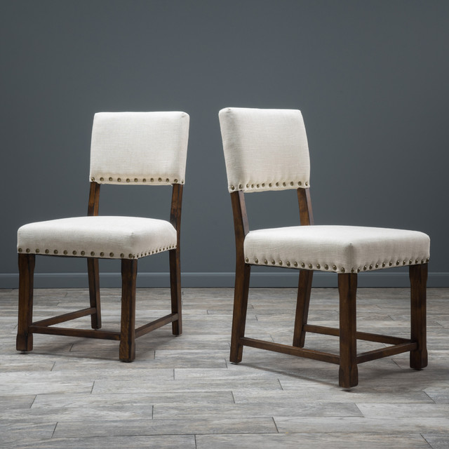 Christopher Knight Home Mayfield Fabric Dining Chair Set Of 2 Contemporar
