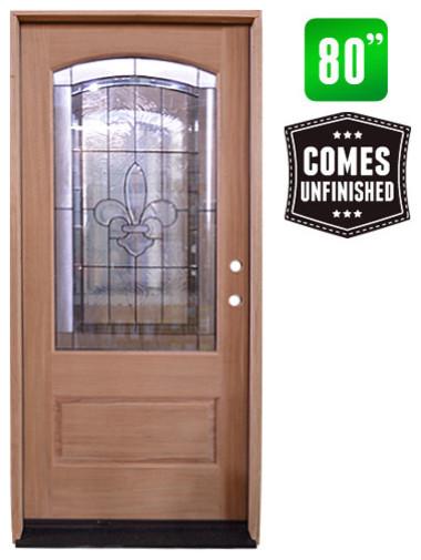 Fleur De Lis 1-Panel Front Entry Door - Front Doors - by Seconds & Surplus Building Materials