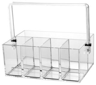All Clear Acrylic Flatware Utensils Caddy Modern