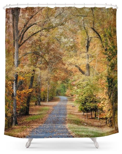 Society6 Autumn Passage 2 Fall Landscape Scene Shower
