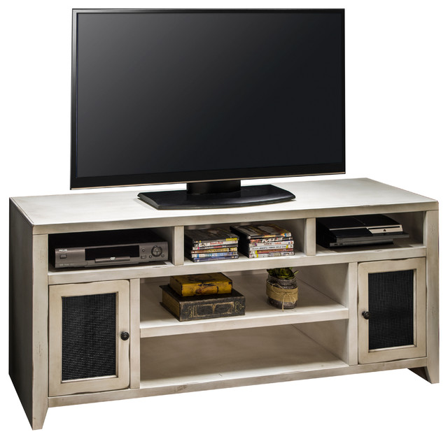 calistoga white 66 tv console bord de mer solution m dia et meuble tv par legends furniture. Black Bedroom Furniture Sets. Home Design Ideas