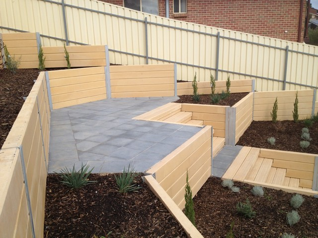 Retaining walls modern adelaide by adelaide for Retaining wall contractors adelaide