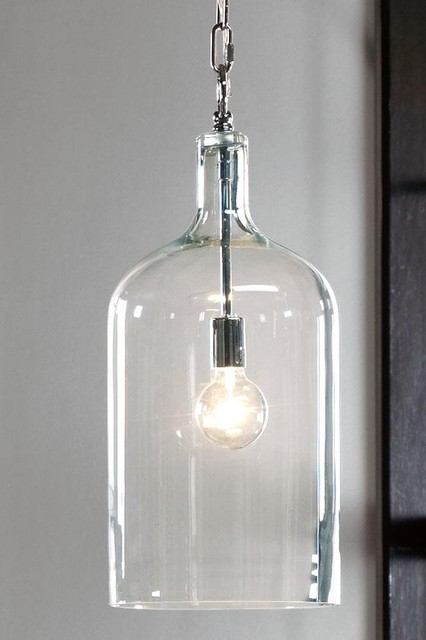 Capri 1 Light Pendant Transitional Pendant Lighting By Home Decorators Collection