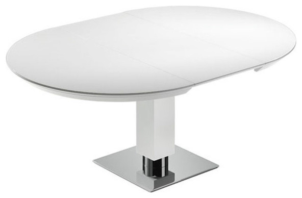 Todo From Bacher Round Extendable Dining table With Glass ...