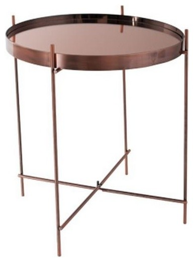 table basse cupid en cuivre de zuiver 43 x 45 cm contemporary coffee tables by inside75