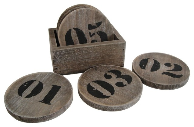 Industrial Coaster Set Modern Coasters By Screen