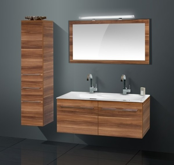 cabinet with walnut finish contemporary bathroom vanities and sink