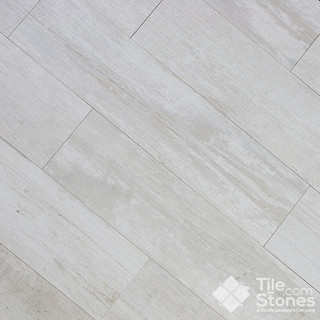 colonial white wood plank porcelain tile - other metro