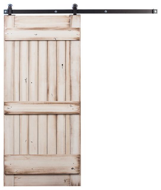 Rustica hardware ranch style sliding door white wash for Farmhouse sliding door