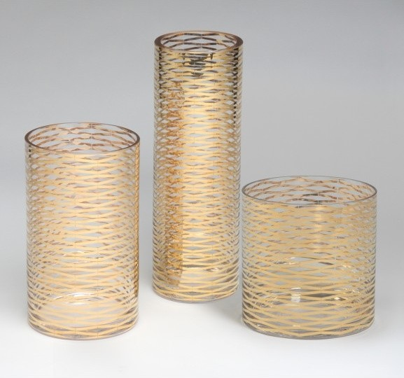gold ribbons glass vase contemporary vases by. Black Bedroom Furniture Sets. Home Design Ideas