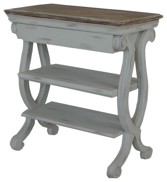 Cottage Magazine Table White Beach Style Side Tables And End Tables By Gail 39 S Accents