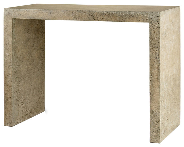 Currey Company Harewood Polished Concrete Console Table 2001 Contemporary Console Tables