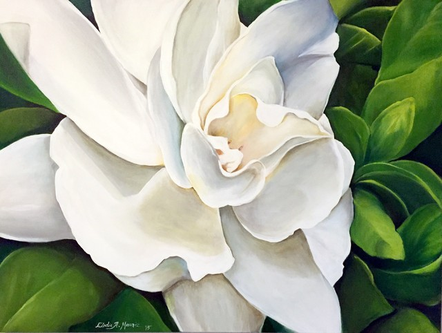 Quot Gardenia Quot Painting Contemporary Paintings By Eladia