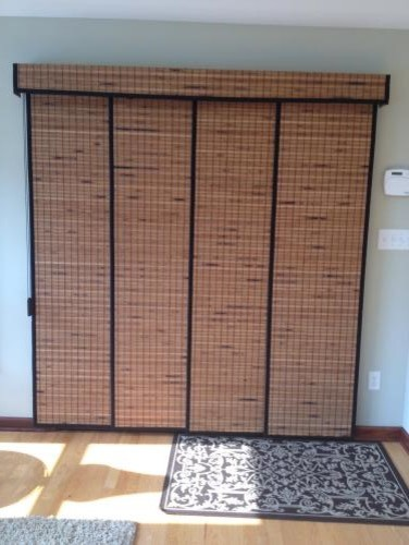 Bali Woven Wood Sliding Panel In Home Of Customer Jill