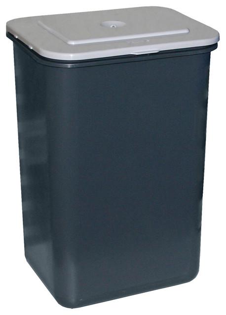 poubelle de porte rectangulaire plastique gris 23 l. Black Bedroom Furniture Sets. Home Design Ideas