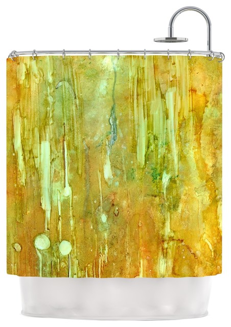 Rosie Brown Rock City Yellow Painting Shower Curtain Contemporary Shower Curtains By